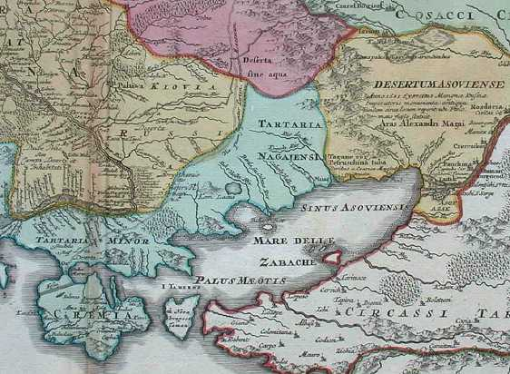 Maps on the history of the Cossacks